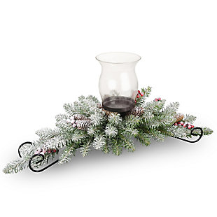 30 in. Dunhill Fir Centerpiece and Candle Holder, , large
