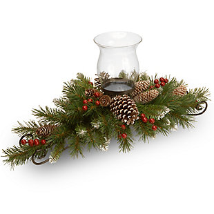 30in. Frosted Berry Centerpiece and Candle Holder, , large