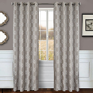 "Bexley 84"" Embroidered Panel Curtain, , large"