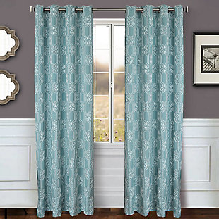 "Bexley 84"" Embroidered Panel Curtain, , rollover"