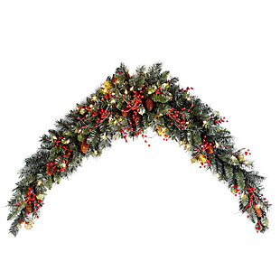 6 ft. Classical Collection Mantel Swag with Clear Lights, , large