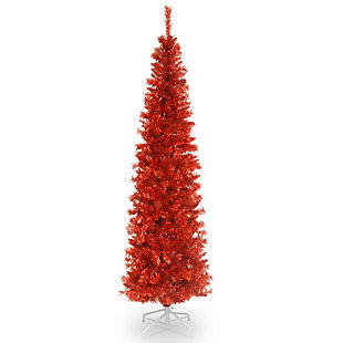 6 ft. Red Tinsel Tree, , large