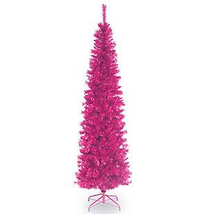 7 ft. Pink Tinsel Tree, , large