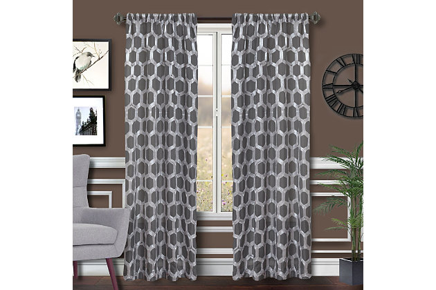 """Rochelle 84"""" Sheer Panel Curtain, , large"""