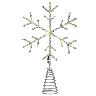 """14.5"""" Snowflake Tree Top for Artificial Trees with Dual Color Lights, , large"""