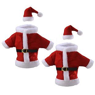 Wine Bottle Santa Suit Cover (Set of 2), , large