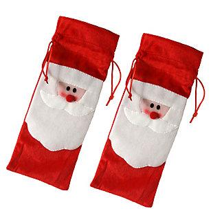 Santa Wine Bottle Bag (Set of 2), , large