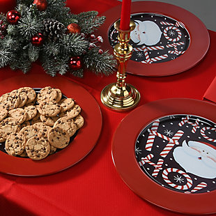 """4-Piece 13"""" Holiday Charger Set, , rollover"""