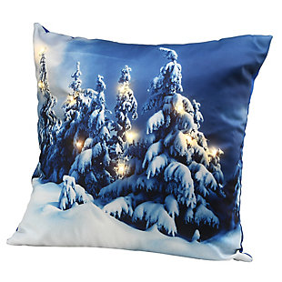 """17"""" Winter Scene Pillow with LED Lights, , large"""