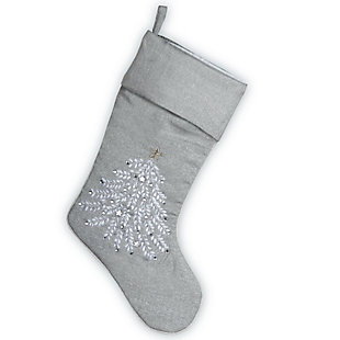 19 in. Silver Stocking, , large