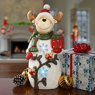 "22"" Lighted Reindeer Decor Piece, , rollover"