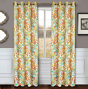 "Carlo 84"" Paisley Panel Curtain, , rollover"