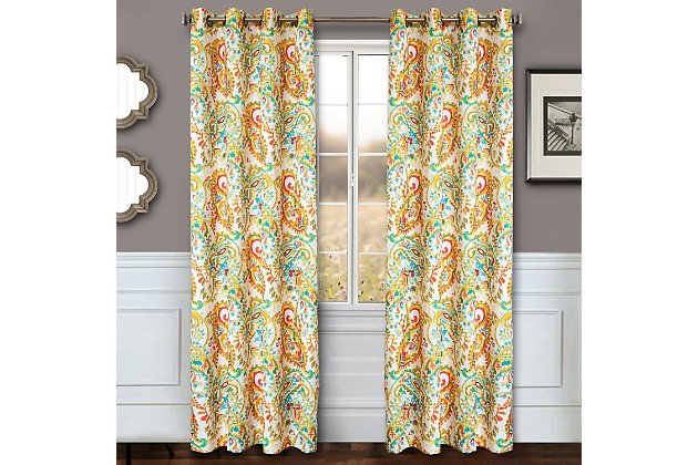 "Carlo 84"" Paisley Panel Curtain, , large"