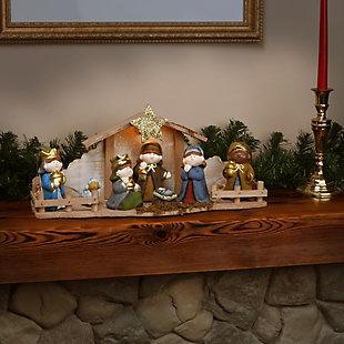 """8"""" Nativity Set with Light, , rollover"""