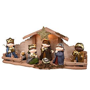 "8"" Nativity Set with Light, , large"