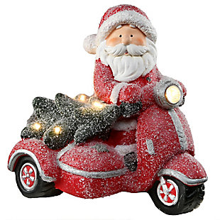 """14"""" Lighted Santa on Scooter, , large"""