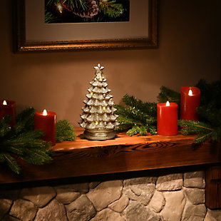 """9"""" Lighted Gold Christmas Tree Decor, , rollover"""