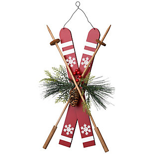 """17"""" Skis Decoration for Door or Wall, , large"""