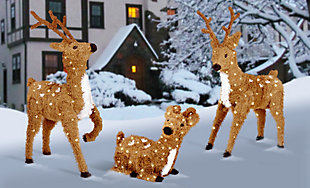 """36"""" Standing Reindeer with Clear Lights, , rollover"""