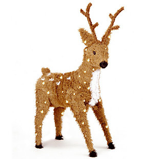 """36"""" Standing Reindeer with Clear Lights, , large"""
