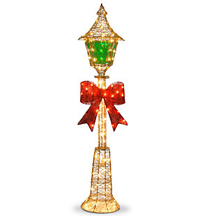 """Pre-Lit 60"""" Gold Wire Lamp Post, , large"""