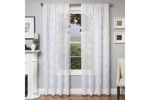 "Connor 84"" Sheer Panel Curtain, , large"