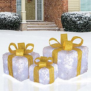 Pre-Lit White Gift Box Assortment, , rollover