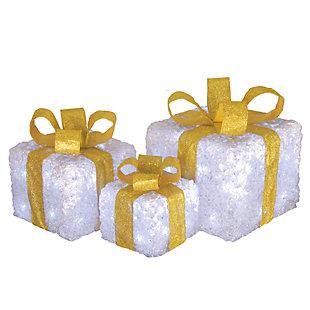 Pre-Lit White Gift Box Assortment, , large