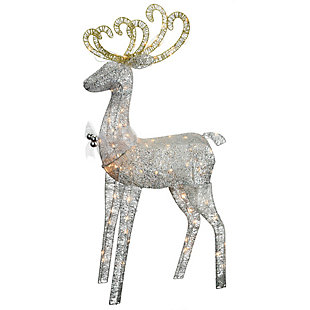 60 in. Reindeer Decoration with Clear Lights, , large