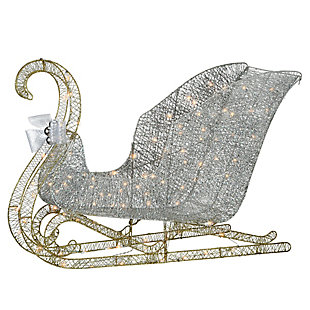 48 in. Santa's Sleigh with Cool White LED Lights, , large