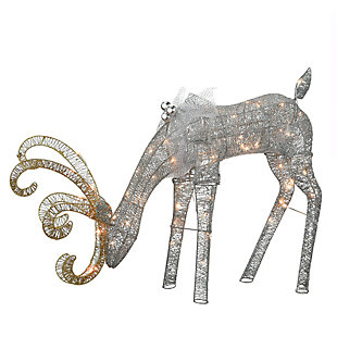 28in. Reindeer Decoration with LED Lights, , large