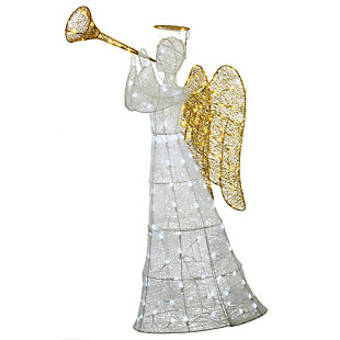 60in. Angel Decoration with LED Lights, , large