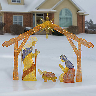 """96"""" Nativity Scene with Clear Lights, , rollover"""