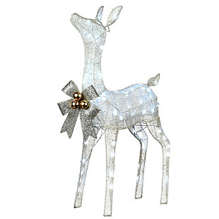 """36"""" Pre-Lit Glittered Fawn, , large"""