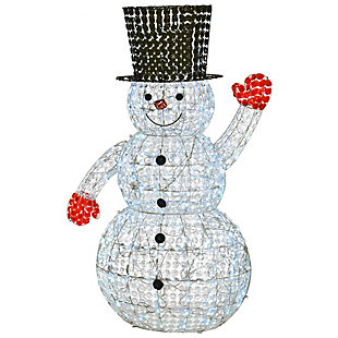 """60"""" Crystal Bead Snowman with LED Lights, , large"""