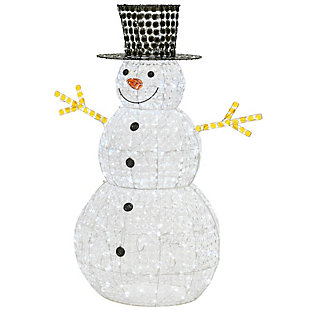 """60"""" Crystal Bead Snowman with LED Lights, , rollover"""