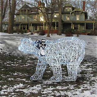 48in. Pre-lit Polar Bear Decoration, , rollover