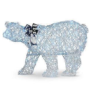 48in. Pre-lit Polar Bear Decoration, , large