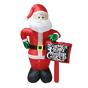 8 ft. Inflatable Santa with Sign, , large