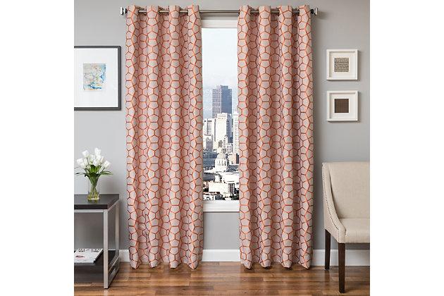 """Davos 84"""" Jacquard Tile Panel Curtain, , large"""