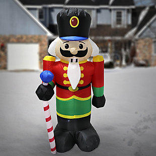 4 ft. Inflatable Holiday Nutcracker, , rollover