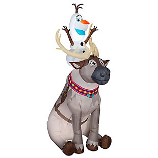7.5 ft. Inflatable Olaf and Sven, , large