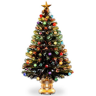 """48"""" Fiber Optic Fireworks Tree with Ball Ornaments, , large"""