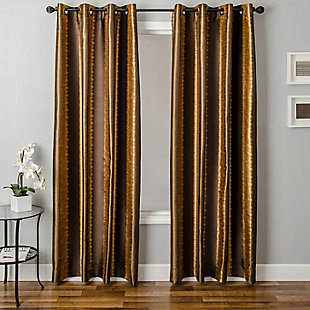 "Fantasia 84"" Jacquard Ikat Panel Curtain, , rollover"