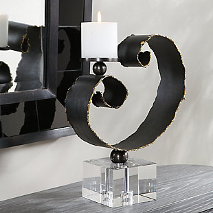 Uttermost Yarina Dark Bronze Candleholder, , rollover