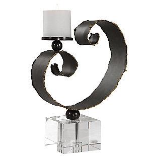 Uttermost Yarina Dark Bronze Candleholder, , large