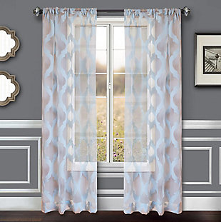 "Erika 84"" Sheer Jacquard Panel Curtain, , rollover"