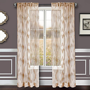 "Erika 84"" Sheer Jacquard Panel Curtain, , large"
