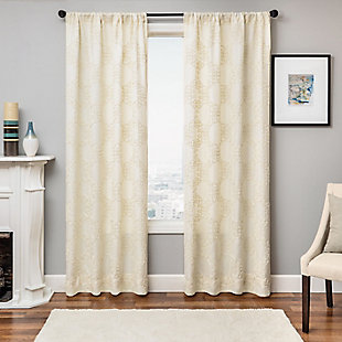 "Liam 84"" Embroidered Panel Curtain, Natural, large"