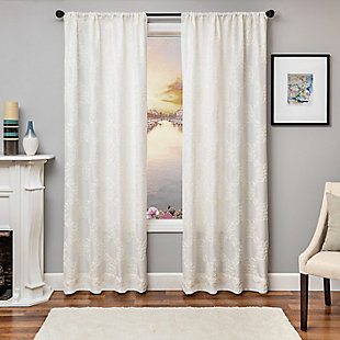 "Liam 84"" Embroidered Panel Curtain, , large"